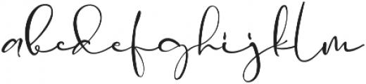 La Rosa Script otf (400) Font LOWERCASE