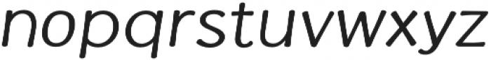 La Veronique Notes Italic otf (400) Font LOWERCASE