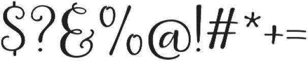 La Veronique One otf (400) Font OTHER CHARS