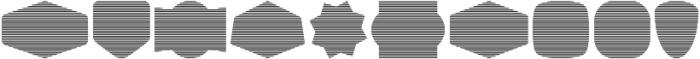 Label Pro XL Stripes otf (400) Font OTHER CHARS