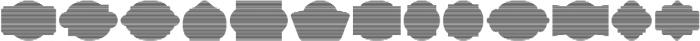 Label Pro XL Stripes otf (400) Font LOWERCASE
