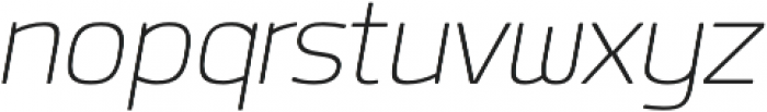 Labrador B ExtraLight Italic otf (200) Font LOWERCASE