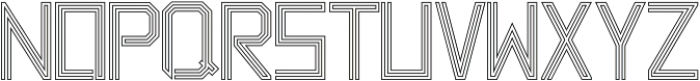 Labyrinth Outline otf (400) Font LOWERCASE