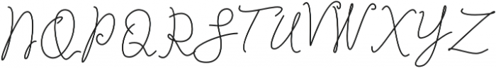 Ladies Rock Monoline Regular otf (400) Font UPPERCASE