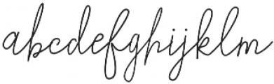 Ladies Rock Monoline Regular otf (400) Font LOWERCASE