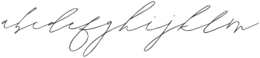 Lady Luminous otf (400) Font LOWERCASE