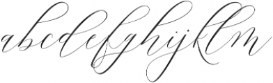 Lady Slippers Loops otf (400) Font LOWERCASE
