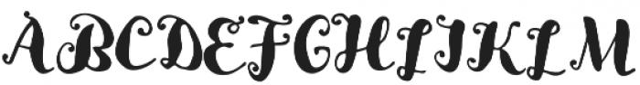 Lady rose Regular otf (400) Font UPPERCASE