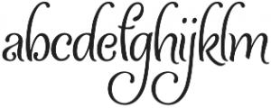 Ladybird otf (400) Font LOWERCASE