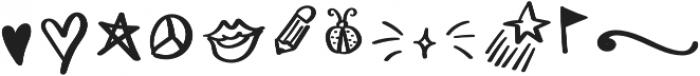 Ladybugs Symbols otf (400) Font LOWERCASE