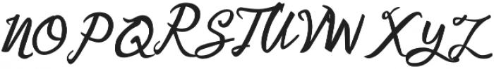Ladylove Regular otf (400) Font UPPERCASE