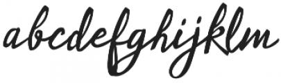 Ladylove Regular otf (400) Font LOWERCASE