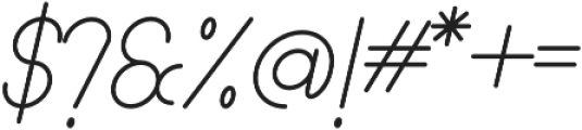 Lamborgini Light Italic otf (300) Font OTHER CHARS