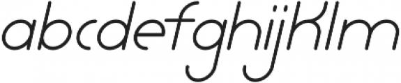 Lamborgini Light Italic otf (300) Font LOWERCASE