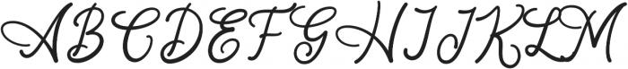 Lambresia Regular otf (400) Font UPPERCASE