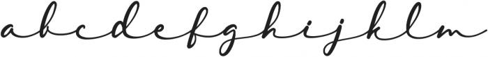 Lambresia Regular otf (400) Font LOWERCASE