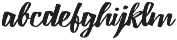 Lampoon Brush 50 otf (400) Font LOWERCASE