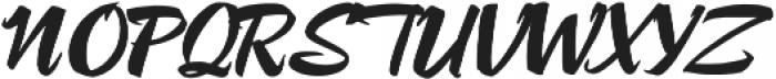 Lampoon Brush 70 otf (400) Font UPPERCASE