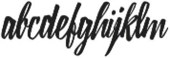 Lampoon Brush 80 otf (400) Font LOWERCASE