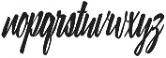 Lampoon Brush 90 otf (400) Font LOWERCASE