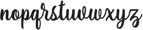 Lanjutin otf (400) Font LOWERCASE