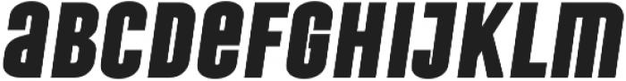 Laqonic 4F Unicase Black Italic otf (900) Font LOWERCASE