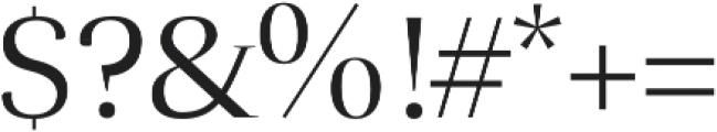 Lara Book otf (400) Font OTHER CHARS