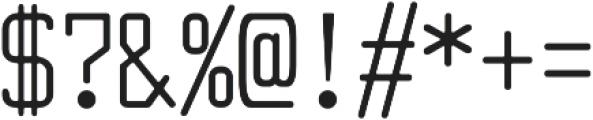 Larabiefont Condensed otf (400) Font OTHER CHARS