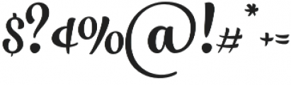 Larry Regular otf (400) Font OTHER CHARS