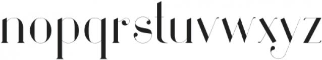 Larumi Bold otf (700) Font LOWERCASE