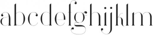 Larumi Regular Regular otf (400) Font LOWERCASE