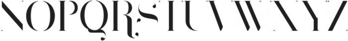 Larumi Regular Stencil otf (400) Font UPPERCASE