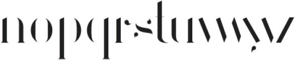 Larumi Regular Stencil otf (400) Font LOWERCASE