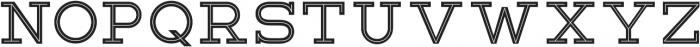 Lastra Inline otf (400) Font UPPERCASE