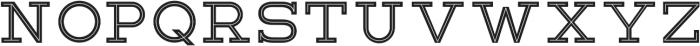 Lastra Inline otf (400) Font LOWERCASE