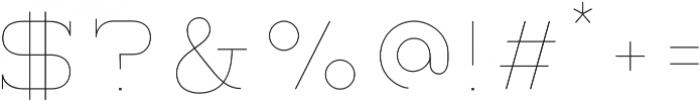 Lastra UltraLight otf (300) Font OTHER CHARS