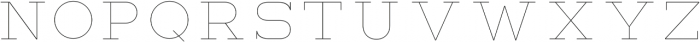 Lastra UltraLight otf (300) Font UPPERCASE
