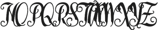 Late Frost otf (400) Font UPPERCASE