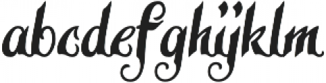 Late Frost otf (400) Font LOWERCASE