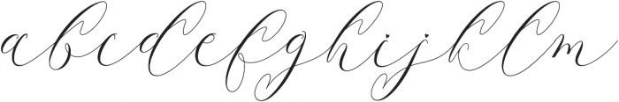 Latia otf (400) Font LOWERCASE