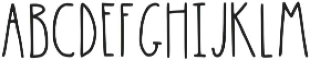Latta Print Regular ttf (400) Font UPPERCASE