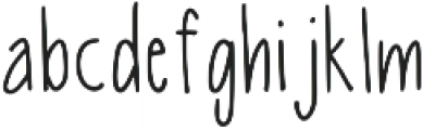 Latta Print Regular ttf (400) Font LOWERCASE