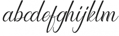 Lattonya otf (400) Font LOWERCASE