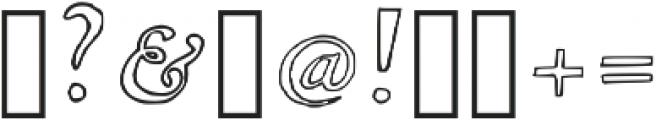 Laurel Outline Regular otf (400) Font OTHER CHARS