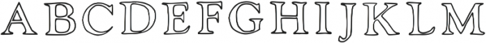 Laurel Outline Regular otf (400) Font UPPERCASE