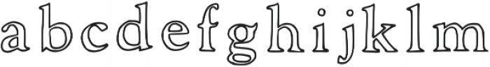 Laurel Outline Regular otf (400) Font LOWERCASE
