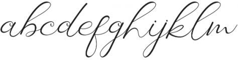 Laureta Regular otf (400) Font LOWERCASE