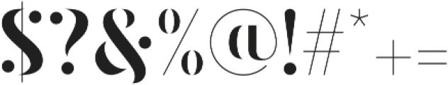 Lavagne otf (400) Font OTHER CHARS