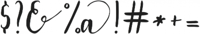 Lavendia otf (400) Font OTHER CHARS