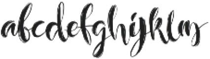 Layla Brush otf (400) Font LOWERCASE